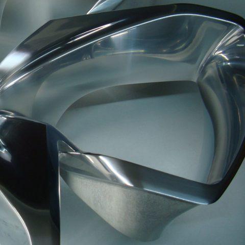 Ausschnitt einer polierten Oberfläche
